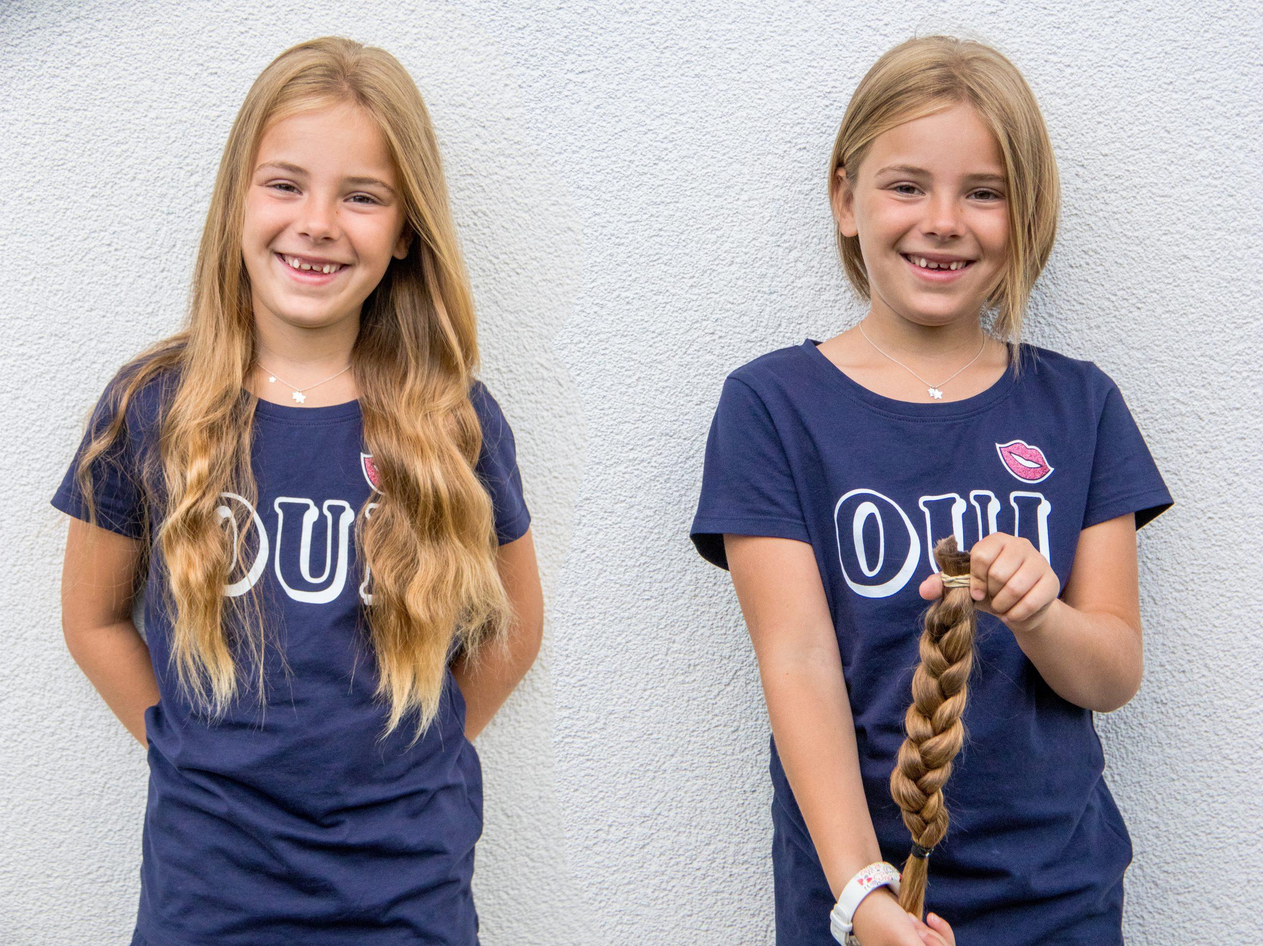 2018: Eva (7 jaar) doneerde voor de tweede keer haar lange lokken aan Stichting Haarwensen