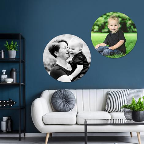 foto's in een wandcirkel